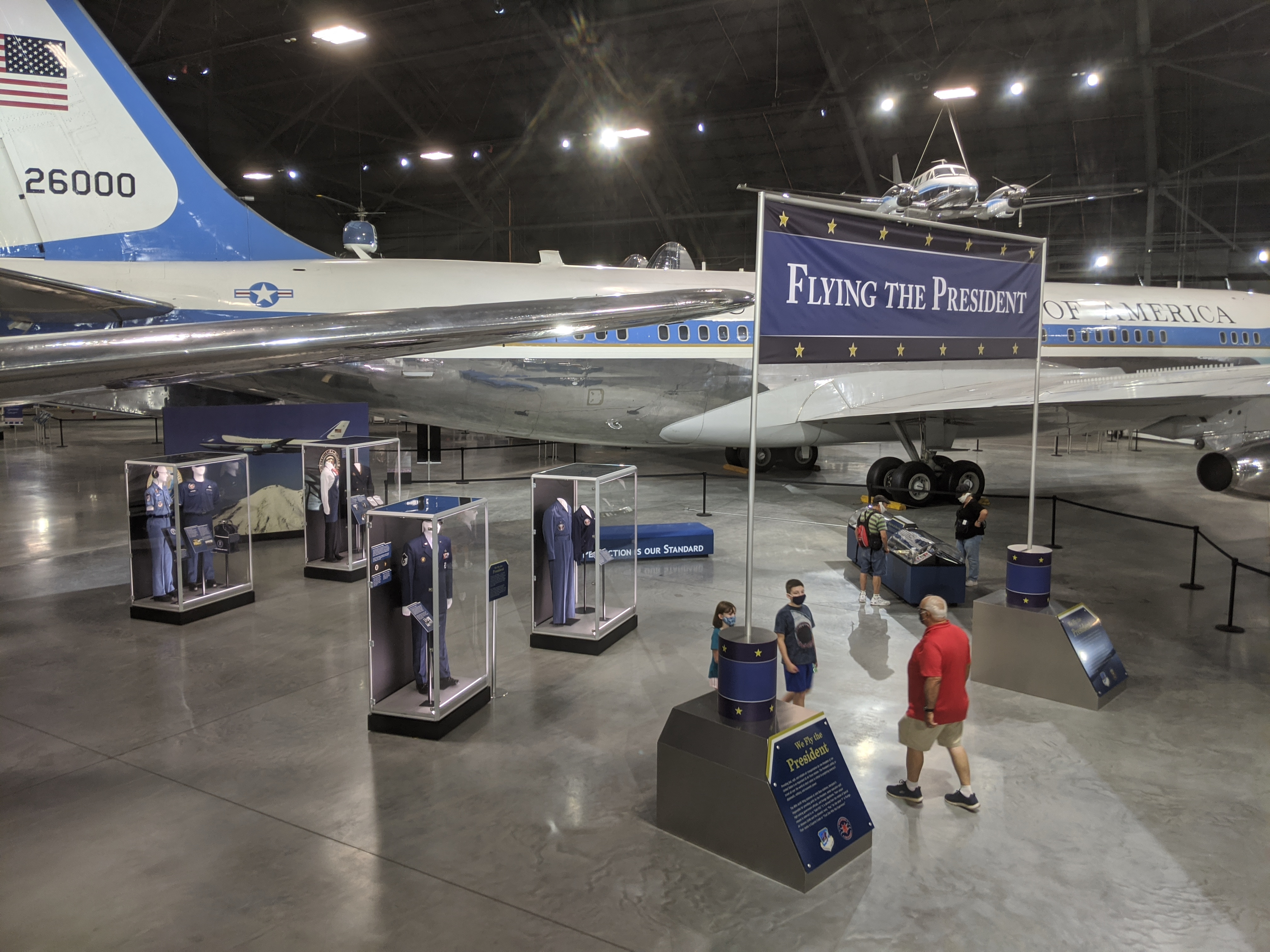 Overhead picture of the Flying the President exhibit