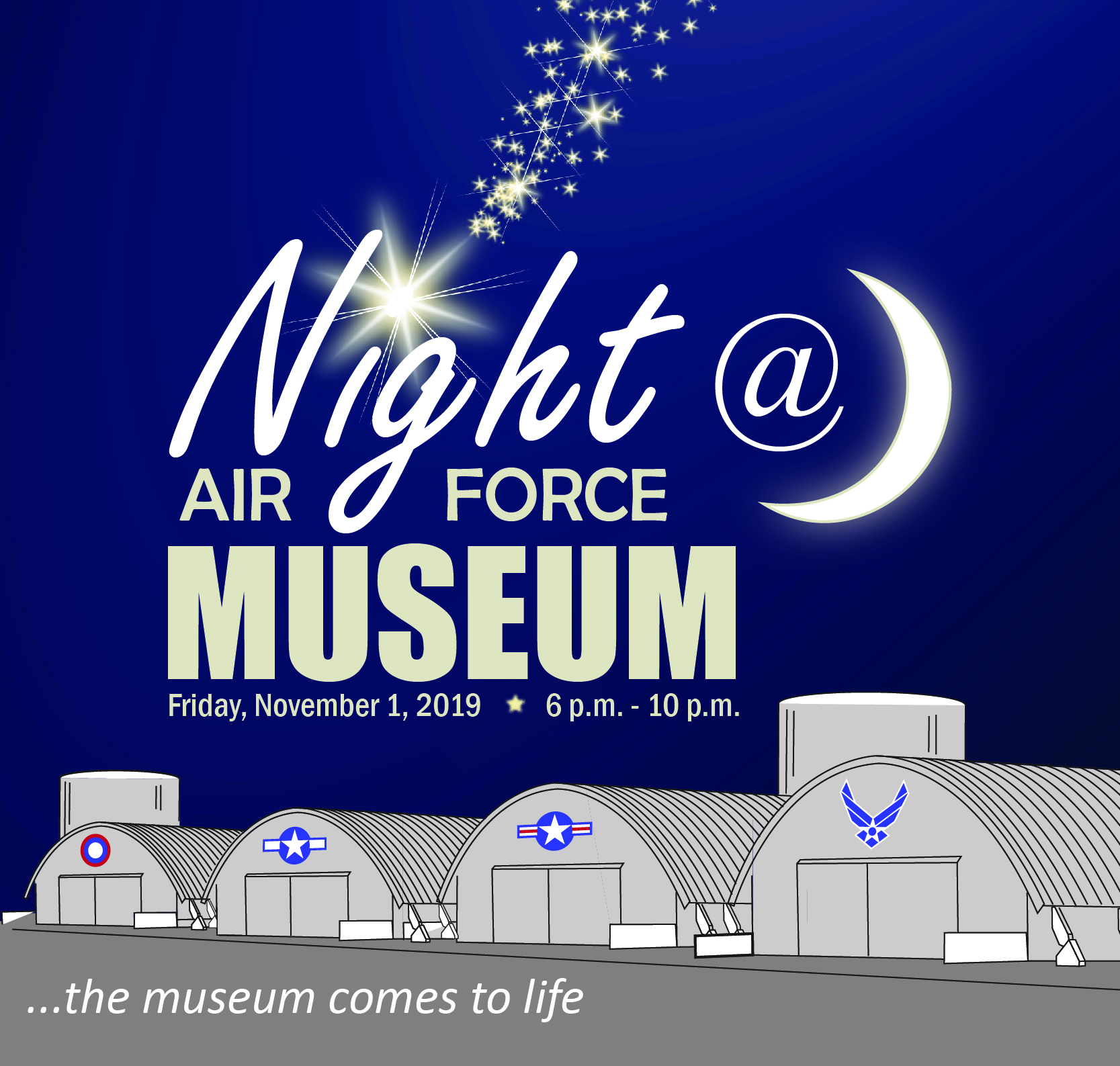 Logo for Night at the Air Force Museum (button)